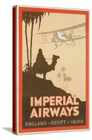Travdel Poster for Imperial Airways--Stretched Canvas Print