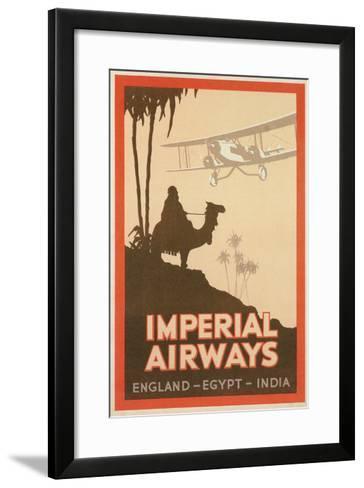 Travdel Poster for Imperial Airways--Framed Art Print