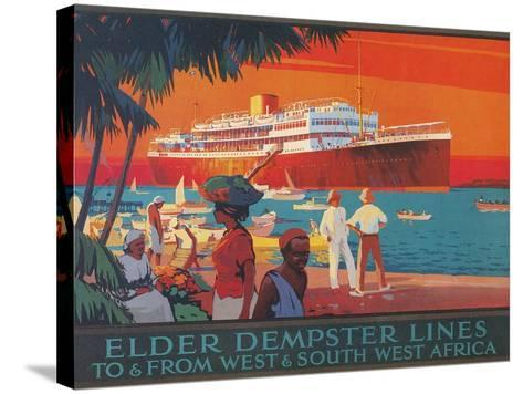 Travel Poster, West and Southwest Africa--Stretched Canvas Print