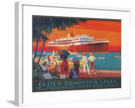 Travel Poster, West and Southwest Africa--Framed Art Print