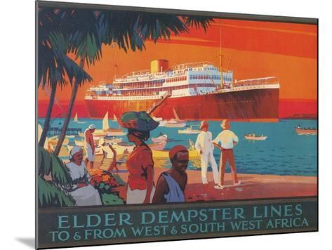 Travel Poster, West and Southwest Africa--Mounted Art Print