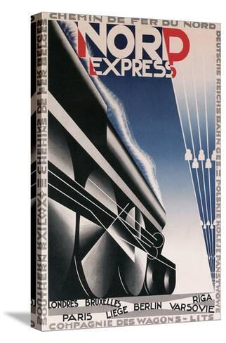 French Train Poster--Stretched Canvas Print