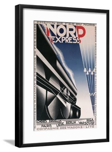 French Train Poster--Framed Art Print