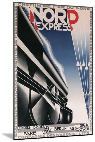 French Train Poster--Mounted Art Print