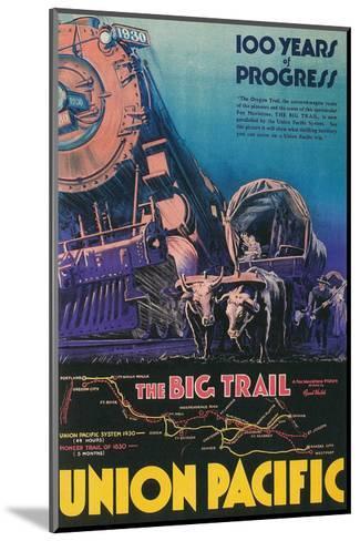Covered Wagon, Locomotive--Mounted Art Print
