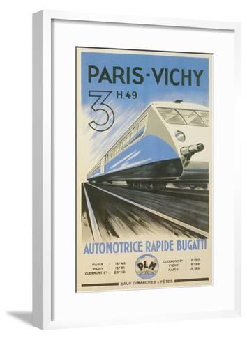 Paris to Vichy Train Poster--Framed Art Print