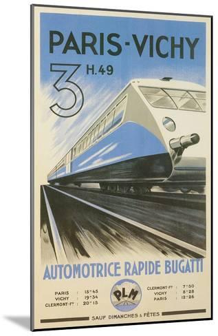Paris to Vichy Train Poster--Mounted Art Print