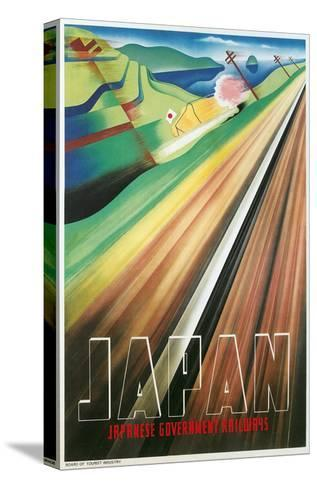 Travel Poster for Japanese Railways--Stretched Canvas Print