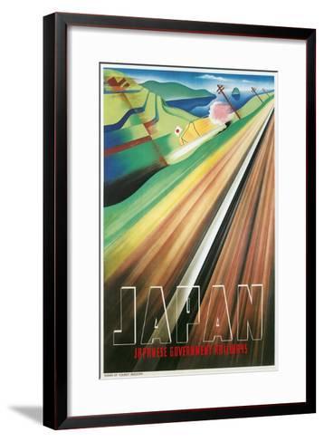 Travel Poster for Japanese Railways--Framed Art Print