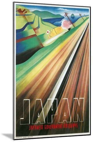 Travel Poster for Japanese Railways--Mounted Art Print