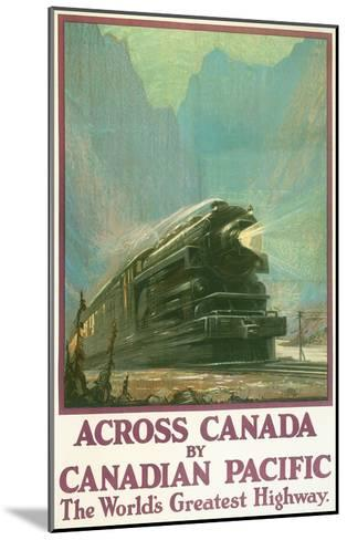 Travel Poster for Canadian Railways--Mounted Art Print