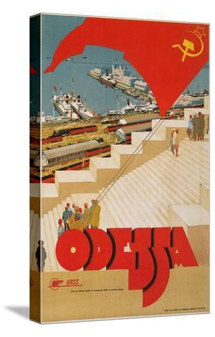 Travel Poster for Odessa, USSR--Stretched Canvas Print