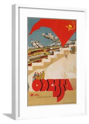 Travel Poster for Odessa, USSR--Framed Art Print