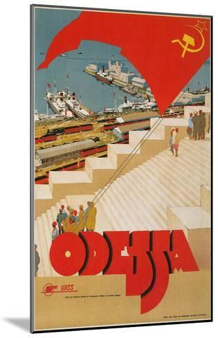 Travel Poster for Odessa, USSR--Mounted Art Print
