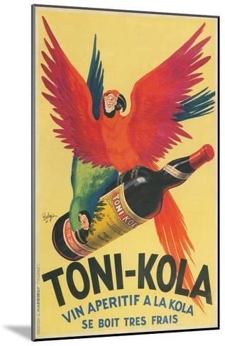 Macaws with Bottle of Kola Liqueur--Mounted Art Print