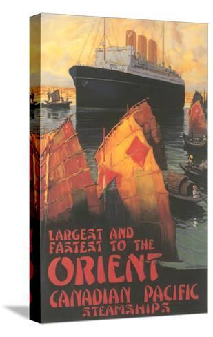 Ocean Liner to Far East--Stretched Canvas Print