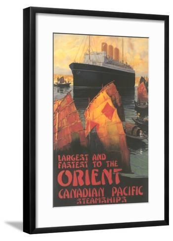 Ocean Liner to Far East--Framed Art Print
