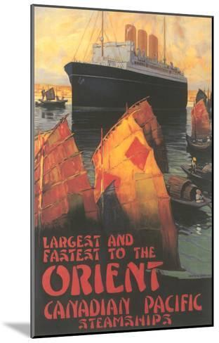 Ocean Liner to Far East--Mounted Art Print