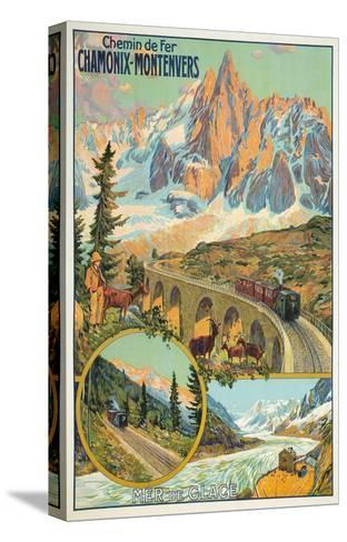 Vintage Travel Poster for Chamonix, France--Stretched Canvas Print
