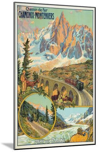Vintage Travel Poster for Chamonix, France--Mounted Art Print