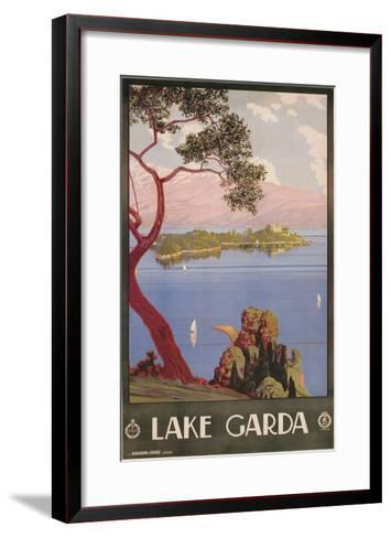 Travel Poster for Lake Garda, Italy--Framed Art Print