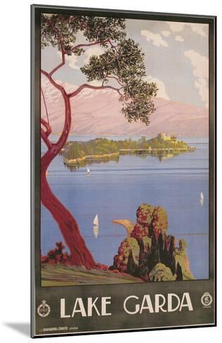 Travel Poster for Lake Garda, Italy--Mounted Art Print