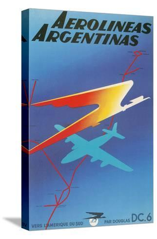 Poster for Argentine Airlines--Stretched Canvas Print
