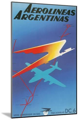 Poster for Argentine Airlines--Mounted Art Print