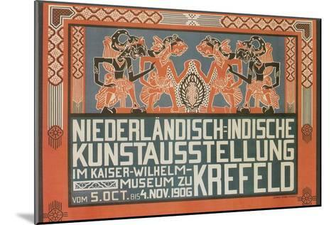 Dutch East Indies Art Exhibition--Mounted Art Print