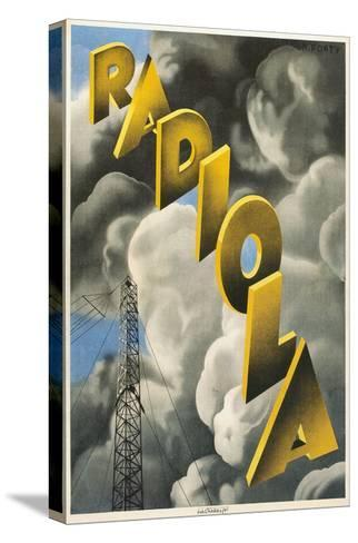 Radiola, Clouds and Tower--Stretched Canvas Print