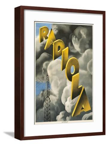Radiola, Clouds and Tower--Framed Art Print