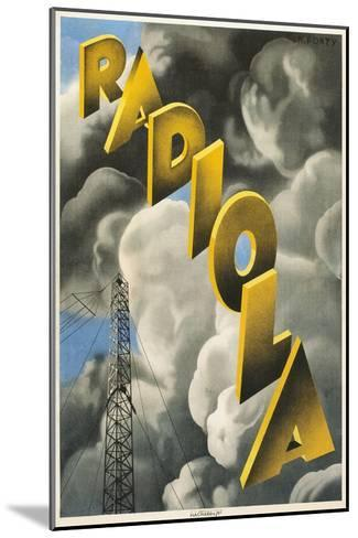 Radiola, Clouds and Tower--Mounted Art Print