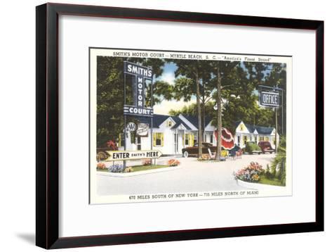 Smith's Motor Court, Myrtle Beach, South Carolina--Framed Art Print