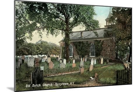 Old Dutch Church, Tarrytown, New York--Mounted Art Print