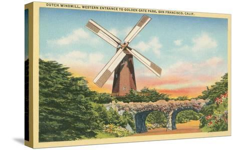 Dutch Windmill, San Francisco--Stretched Canvas Print
