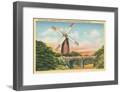 Dutch Windmill, San Francisco--Framed Art Print