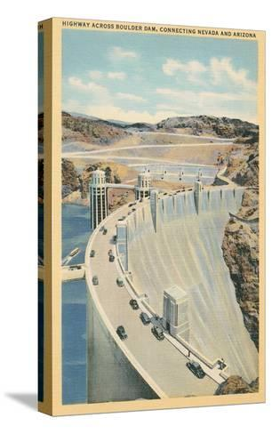 Highway across Boulder Dam--Stretched Canvas Print