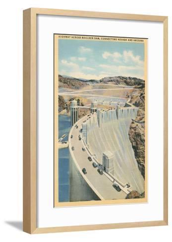 Highway across Boulder Dam--Framed Art Print