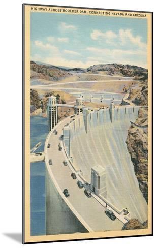 Highway across Boulder Dam--Mounted Art Print