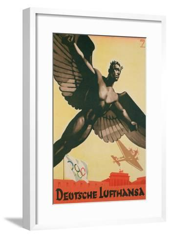 German Airforce Poster--Framed Art Print