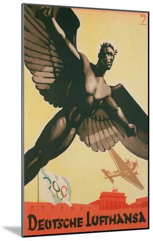 German Airforce Poster--Mounted Art Print