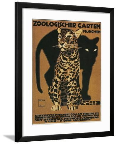 Leopard and Panther, Munich Zoo--Framed Art Print
