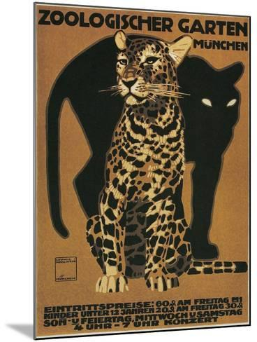 Leopard and Panther, Munich Zoo--Mounted Art Print