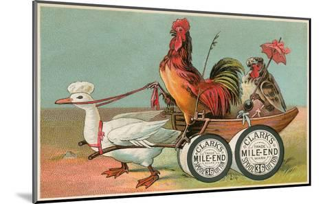 Chicken Wagon Pulled by Duck--Mounted Art Print