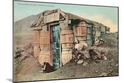 Barrel House, Tonapah, Nevada--Mounted Art Print