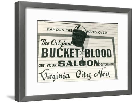 Bucket of Blood Saloon, Virginia City--Framed Art Print