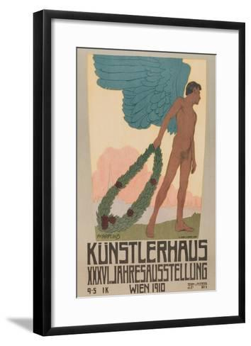 Poster for Vienna Art Exhibition--Framed Art Print