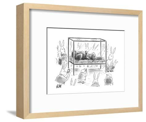 Chocolate Easter Bunny - Cartoon-Christopher Weyant-Framed Art Print