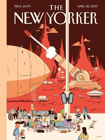 The New Yorker Cover - April 22, 2013-Luke Pearson-Stretched Canvas Print