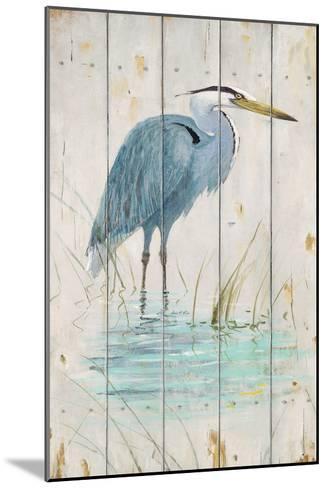 Blue Heron-Arnie Fisk-Mounted Art Print